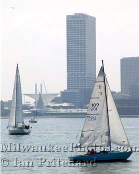 Photograph of Sailing Past Downtown from www.MilwaukeePhotos.com (C) Ian Pritchard